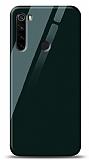 Eiroo Xiaomi Redmi Note 8 Silikon Kenarlı Yeşil Cam Kılıf