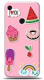 Honor 8A Pink Stickers Kılıf