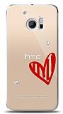 HTC 10 3 Taş Love Kılıf