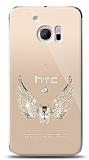 HTC 10 Angel Death Taşlı Kılıf