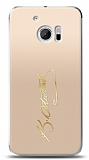 HTC 10 Gold Atatürk İmza Kılıf