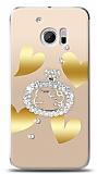 HTC 10 Lovely Kitty Taşlı Kılıf