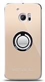 HTC 10 Siyah Tutuculu Şeffaf Kılıf