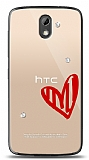 HTC Desire 526 3 Taş Love Kılıf
