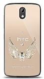 HTC Desire 526 Angel Death Taşlı Kılıf