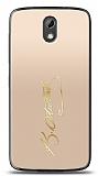 HTC Desire 526 Gold Atatürk İmza Kılıf