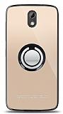 HTC Desire 526 Siyah Tutuculu Şeffaf Kılıf