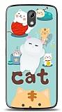 HTC Desire 526 Üç Boyutlu Sevimli Kedi Kılıf