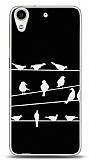 HTC Desire 626 Birds Black Kılıf
