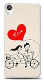HTC Desire 820 Love Bike Couple Kılıf