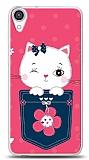 HTC Desire 820 Pink Cat Kılıf