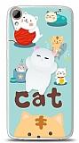 HTC Desire 828 Üç Boyutlu Sevimli Kedi Kılıf