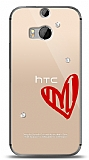 HTC One M8s 3 Taş Love Kılıf