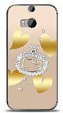 HTC One M8s Lovely Kitty Taşlı Kılıf