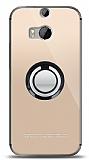 HTC One M8s Siyah Tutuculu Şeffaf Kılıf