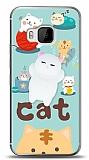 HTC One M9 Üç Boyutlu Sevimli Kedi Kılıf