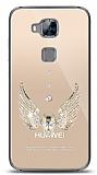Huawei G8 Angel Death Taşlı Kılıf