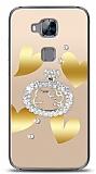 Huawei G8 Lovely Kitty Taşlı Kılıf