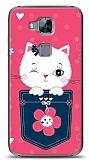 Huawei G8 Pink Cat Kılıf