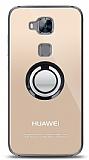 Huawei G8 Siyah Tutuculu Şeffaf Kılıf