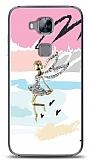 Huawei G8 Wing Girl Taşlı Kılıf
