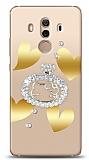 Huawei Mate 10 Pro Lovely Kitty Taşlı Kılıf