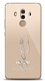Huawei Mate 10 Pro Silver Atatürk İmza Kılıf