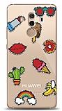 Huawei Mate 10 Pro Stickers Resimli Kılıf
