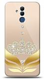 Huawei Mate 20 Lite Gold Crown Taşlı Kılıf