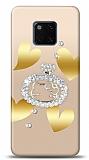 Huawei Mate 20 Pro Lovely Kitty Taşlı Kılıf