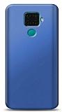 Huawei Mate 30 Lite Lacivert Mat Silikon Kılıf