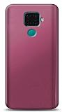 Huawei Mate 30 Lite Mürdüm Mat Silikon Kılıf