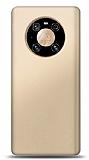 Huawei Mate 40 Pro Gold Mat Silikon Kılıf