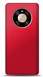 Huawei Mate 40 Pro Kırmızı Mat Silikon Kılıf