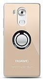 Huawei Mate 8 Siyah Tutuculu Şeffaf Kılıf