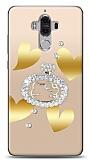 Huawei Mate 9 Lovely Kitty Taşlı Kılıf