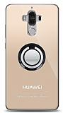 Huawei Mate 9 Siyah Tutuculu Şeffaf Kılıf