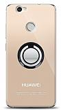 Huawei Nova Siyah Tutuculu Şeffaf Kılıf