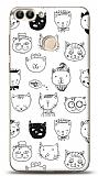Huawei P Smart Cats Resimli Kılıf