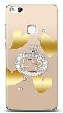 Huawei P10 Lite Lovely Kitty Taşlı Kılıf