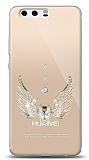 Huawei P10 Plus Angel Death Taşlı Kılıf