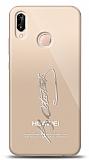 Huawei P20 Lite Silver Atatürk İmza Kılıf