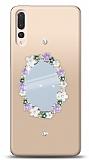 Huawei P20 Pro Çiçekli Aynalı Taşlı Kılıf