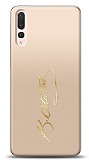 Huawei P20 Pro Gold Atatürk İmza Kılıf