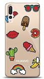 Huawei P20 Pro Stickers Resimli Kılıf