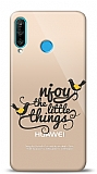 Huawei P30 Lite Njoy Little Things Resimli Kılıf