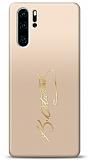 Huawei P30 Pro Gold Atatürk İmza Kılıf