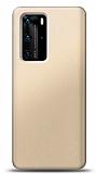 Huawei P40 Gold Mat Silikon Kılıf