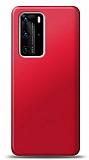 Huawei P40 Kırmızı Mat Silikon Kılıf