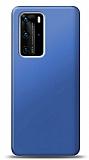 Huawei P40 Lacivert Mat Silikon Kılıf